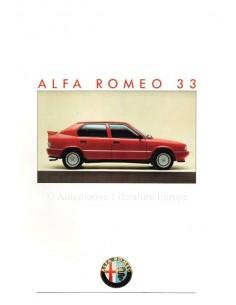 1986 ALFA ROMEO 33 BROCHURE FRENCH