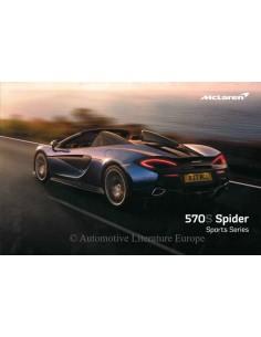 2018 MCLAREN 570S SPIDER SPORT SERIES PROSPEKT ENGLISCH