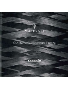 2017 MASERATI LEVANTE BROCHURE ENGLISH (UK)