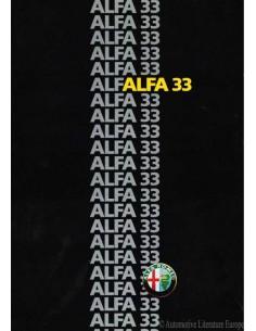 1986 ALFA ROMEO 33 PROSPEKT DEUTSCH