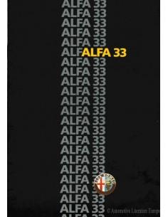 1985 ALFA ROMEO 33 PROSPEKT NIEDERLÄNDISCH