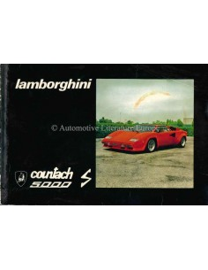 1982 LAMBORGHINI COUNTACH 5000 S OWNERS MANUAL