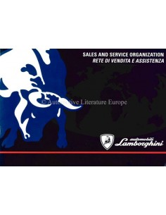 1995 LAMBORGHINI SALES & SERVICE ORGANIZATION HANDBOOK