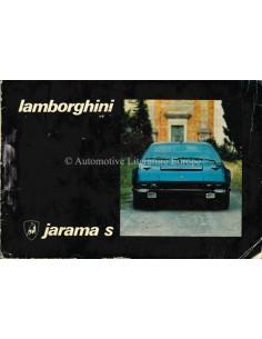 1973 LAMBORGHINI JARAMA S INSTRUCTIEBOEKJE