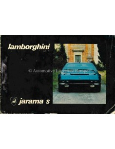 1973 LAMBORGHINI JARAMA S OWNERS MANUAL