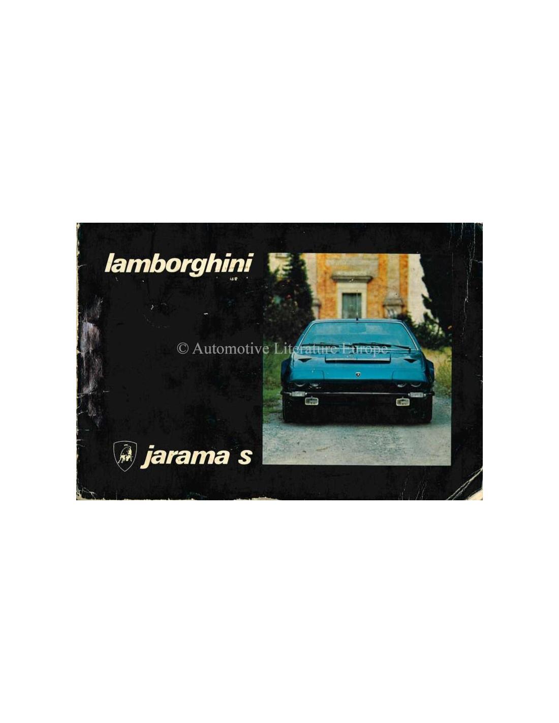 1973 Lamborghini Jarama S Owners Manual