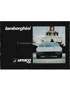 1970 LAMBORGHINI URRACO P250 OWNERS MANUAL