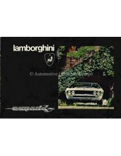 1974 LAMBORGHINI ESPADA III INSTRUCTIEBOEKJE