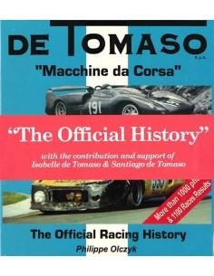 DE TOMASO - MACCHINE DA CORSA - THE OFFICIAL HISTORY - BOEK