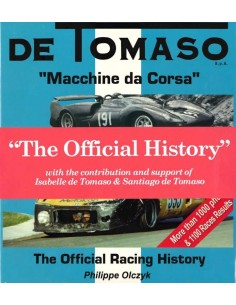 DE TOMASO - MACCHINE DA CORSA - THE OFFICIAL HISTORY - BOOK
