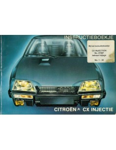 1980 CITROEN CX INJECTION OWNERS MANUAL DUTCH