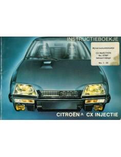 1980 CITROEN CX INJEKTION BETRIEBSANLEITUNG NIEDERLÄNDISCH