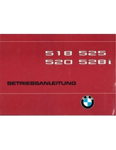 1979 BMW 5 SERIES OWNERS MANUAL GERMAN