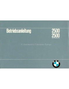 1968 BMW 2500 / 2500 AUTOMATIC OWNERS MANUAL GERMAN