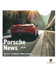 2016 PORSCHE NEWS BROCHURE