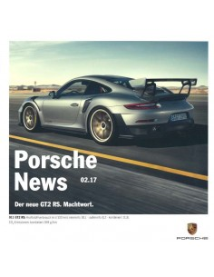 2017 PORSCHE NEWS BROCHURE GERMAN