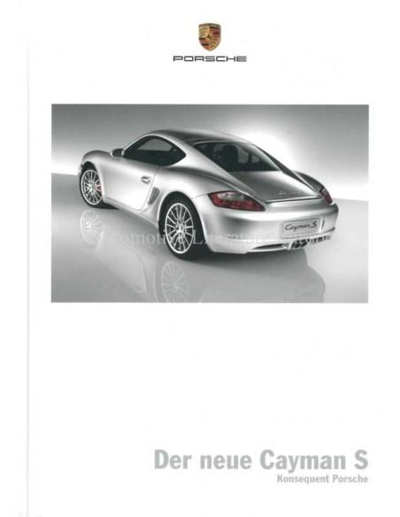 Porsche Cayman S Hardcover Brochure 2005 Duits