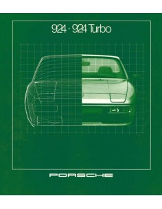 1981 PORSCHE 924 TURBO BROCHURE GERMAN