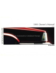 1991 VOLVO 780 BETRIEBSANLEITUNG ENGLISCH (USA)
