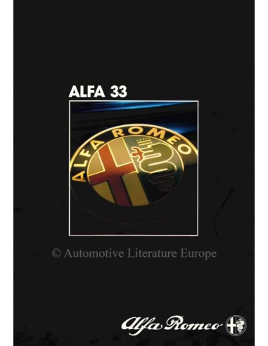 1984 ALFA ROMEO 33 BROCHURE NIEDERLÄNDISCH
