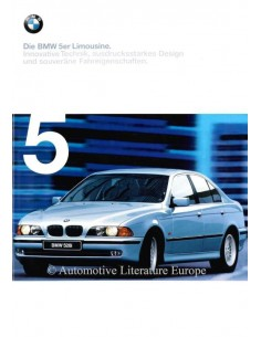 1998 BMW 5 SERIES SALOON BROCHURE GERMAN