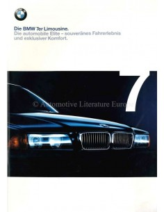 1998 BMW 7 SERIES BROCHURE GERMAN