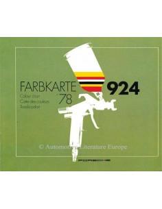 1978 PORSCHE 924 COLOURS BROCHURE