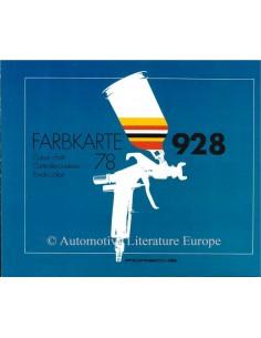 1978 PORSCHE 928 FARBEN PROSPEKT