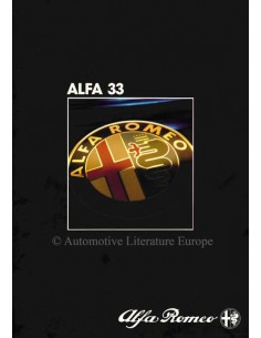 1984 ALFA ROMEO 33 BROCHURE GERMAN