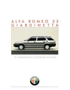 1986 ALFA ROMEO 33 GIARDINETTA PROSPEKT FRANZÖSISCH