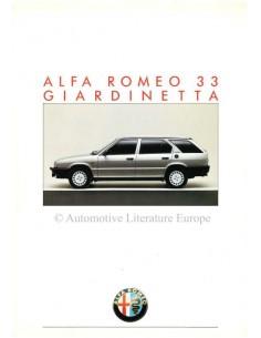 1986 ALFA ROMEO 33 GIARDINETTA PROSPEKT DEUTSCH