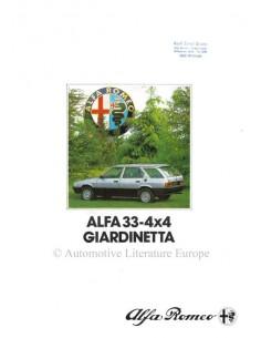 1984 ALFA ROMEO 4X4 GIARDINETTA BROCHURE GERMAN