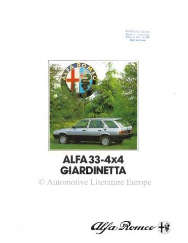 1984 ALFA ROMEO 4X4 GIARDINETTA BROCHURE DUITS