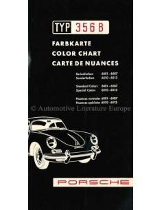 1959 PORSCHE 356 B FARBKARTE PROSPEKT