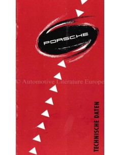 1954 PORSCHE 356 TECHNICAL SPECIFICATIONS BROCHURE GERMAN