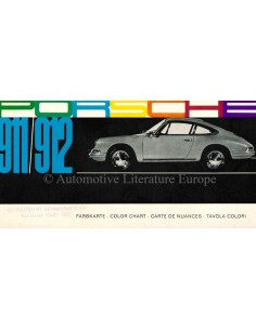 1965 PORSCHE 911 / 912 COLOUR CHART BROCHURE
