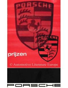 1966 PORSCHE 911 / 912 PREISLISTE NIEDERLÄNDISCH