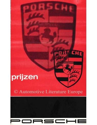 1966 PORSCHE 911 / 912 PRICE LIST DUTCH
