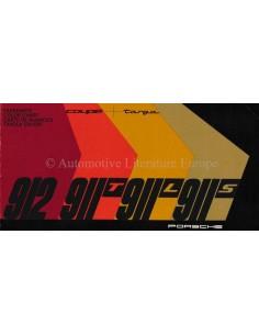 1965 PORSCHE 912 / 911T / 911L / 911S FARBKARTE PROSPEKT