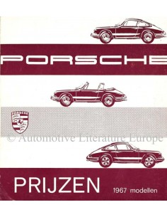 1967 PORSCHE 911 / 912 PRICE LIST DUTCH
