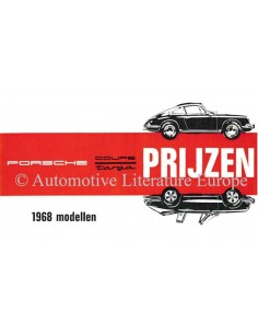 1968 PORSCHE 911 / 912 PRICE LIST DUTCH