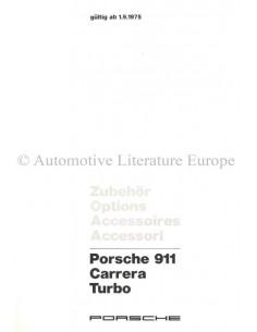 1975 PORSCHE 911 CARRERA TURBO ZUBEHÖR PROSPEKT