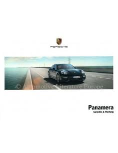 2014 PORSCHE PANAMERA GUARANTEE & MAINTENANCE GERMAN