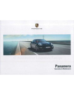 2014 PORSCHE PANAMERA GUARANTEE & MAINTENANCE ENGLISH