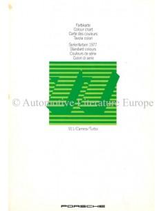 1977 PORSCHE 911 CARRERA / TURBO FARBKARTE PROSPEKT