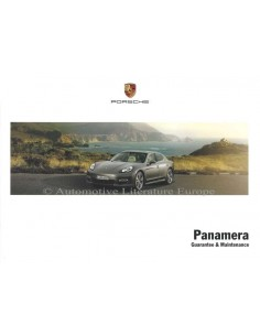 2012 PORSCHE PANAMERA GUARANTEE & MAINTENANCE ENGLISH