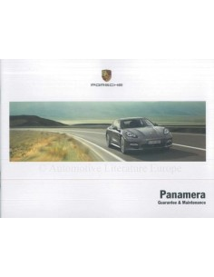 2013 PORSCHE PANAMERA GUARANTEE & MAINTENANCE ENGLISH
