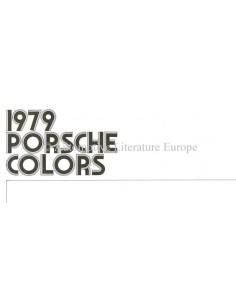 1979 PORSCHE 911SC / 928 / TURBO / 924 FARBEN & INNENAUSSTATTUNG PROSPEKT ENGLISCH