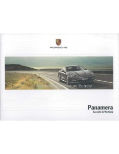2013 PORSCHE PANAMERA GUARANTEE & MAINTENANCE GERMAN