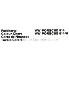 1969 VW-PORSCHE 914 & 914/6 COLOUR CHART BROCHURE